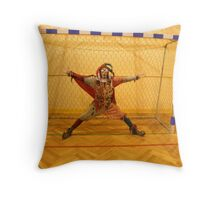 Fool Playing Soccer Throw Pillow
