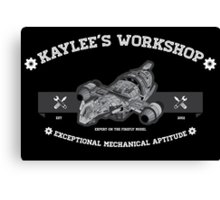 Kaylee's Workshop v2 Canvas Print