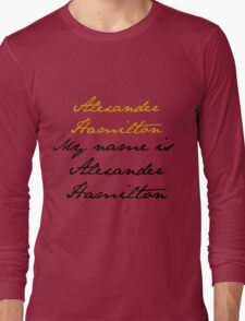 Alexander Hamilton Long Sleeve T-Shirt