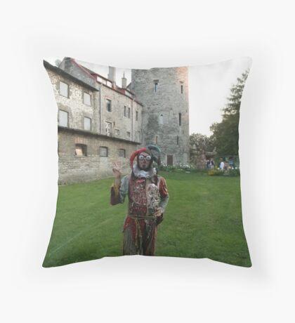 Court Jester in Estonia Throw Pillow