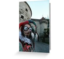 Court Jester Fool Greeting Card