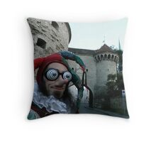 Court Jester Fool Throw Pillow