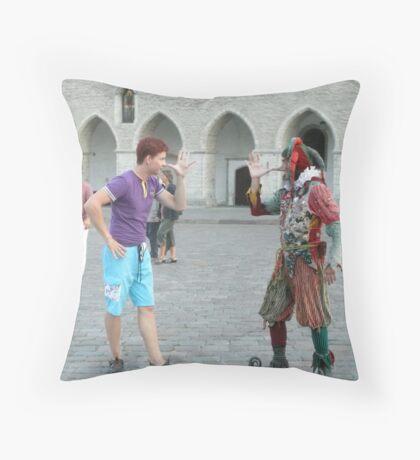 Fooled You! Throw Pillow