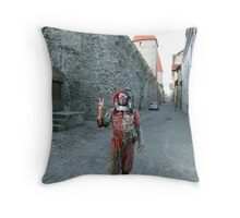 Medieval Fool Throw Pillow
