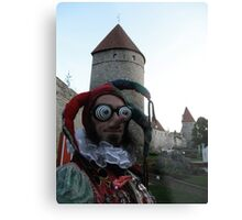 Psychedelic Jester Metal Print