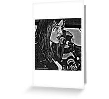 Singer Singing Greeting Card
