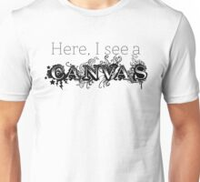 Here, I see a Canvas Unisex T-Shirt