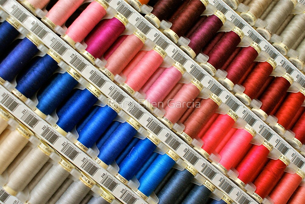 Colors Of The Rainbow, Thread By Thread by Mary Ellen Garcia