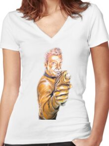 Captain's Gold Women's Fitted V-Neck T-Shirt