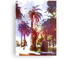 Tropical Palm Trees, beach Metal Print