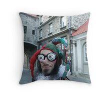Post Modern Jester Throw Pillow