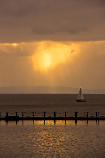 Sailing Into The Sunset.. by Lauren Tucker