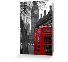 London - Red Greeting Card