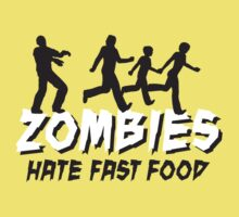 Zombies hate fastfood Kids Clothes