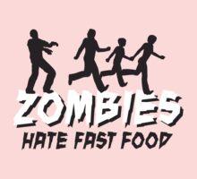 Zombies hate fastfood Kids Tee