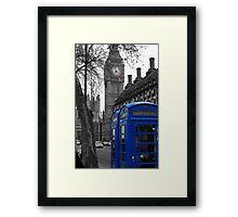 London - Blue Framed Print