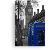London - Blue Canvas Print