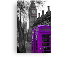 London - Purple Canvas Print