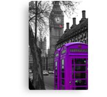 London - Purple Canvas Print