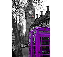 London - Purple Photographic Print