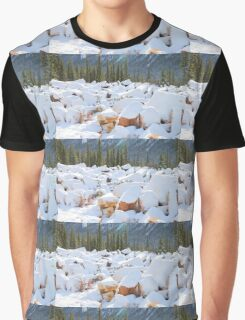 Among the Rocks: Autumn Snow in The Rockies Graphic T-Shirt