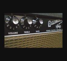 Vintage Bassman tube amp tshirt by BrBa