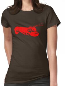 Lobster Outline Womens Fitted T-Shirt