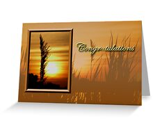 Congratulations Sunset Greeting Card