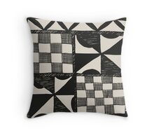 Tapa Cloth Pattern | Pacifica Pattern Throw Pillow