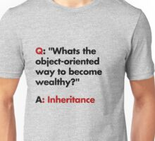 Whats the object-oriented way to become wealthy? Unisex T-Shirt