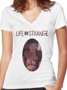 Life is strange - Chloe Women's Fitted V-Neck T-Shirt