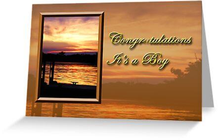 Congratulations It's A Boy Pier by jkartlife