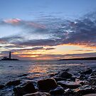 Sunrise at St Mary&#x27;s Lighthouse by John Dunbar