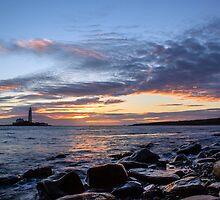 Sunrise at St Mary's Lighthouse by John Dunbar