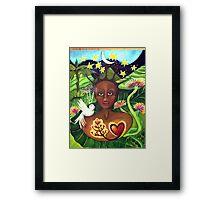 ISLAND GODDESS Framed Print
