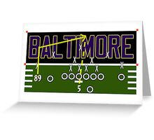 Baltimore Ravens Touchdown Greeting Card