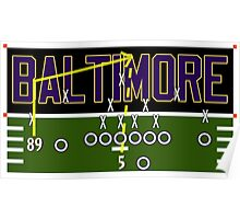 Baltimore Ravens Touchdown Poster