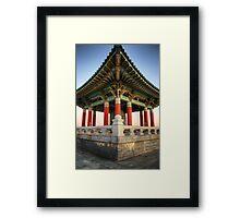 Korean Bell Framed Print