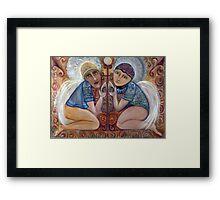 SHIVA BLESSING Framed Print