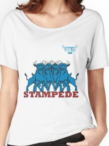 BLUE BULLS  STAMPEDE RUGBY Women's Relaxed Fit T-Shirt