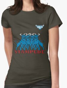 BLUE BULLS  STAMPEDE RUGBY Womens Fitted T-Shirt