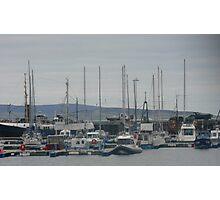Fishing boats in marina Photographic Print