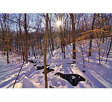 Winters Hidden Spot Photographic Print