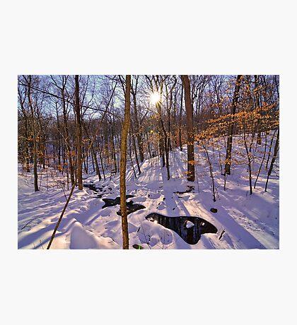 Winters Hidden Spot Photographic Print