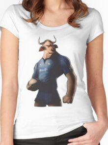 SOUTH AFRICA SEXY SUPER THE BULL RUGBY BLUE BULLS SUPORTER T SHIRT BRAAI BILTONG Women's Fitted Scoop T-Shirt