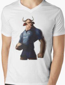 SOUTH AFRICA SEXY SUPER THE BULL RUGBY BLUE BULLS SUPORTER T SHIRT BRAAI BILTONG Mens V-Neck T-Shirt