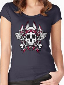 Native American Skull Women's Fitted Scoop T-Shirt