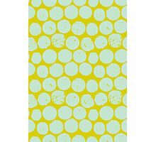 cork polka chartreuse mint Photographic Print