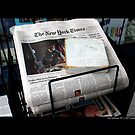 New York Times Newspapers At Port Jefferson Newsstand - Long Island, New York by © Sophie W. Smith