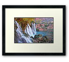Navajo Falls Framed Print